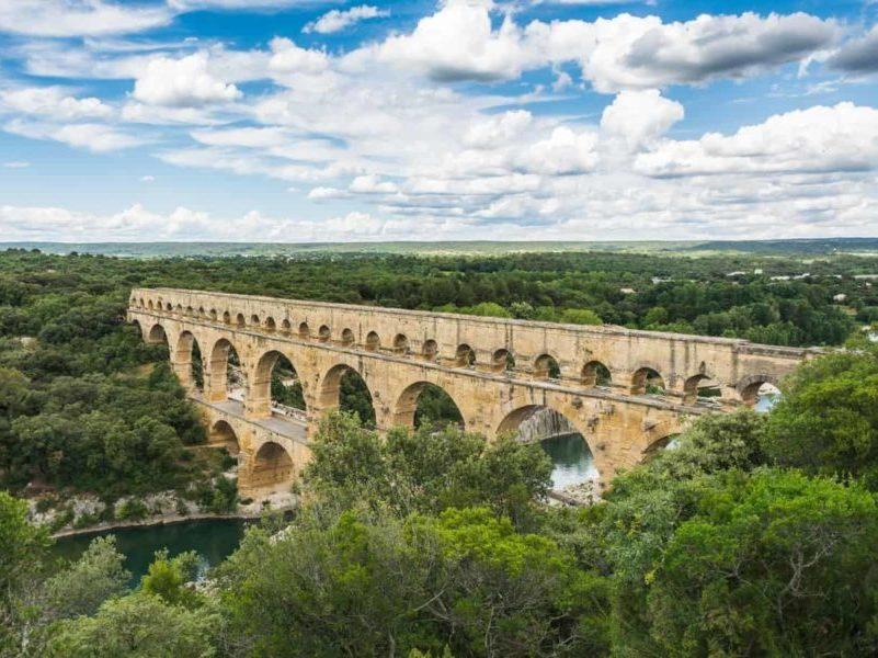 Pont du Gard depuis Aiguèze